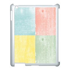 Pastel Textured Squares Apple Ipad 3/4 Case (white)