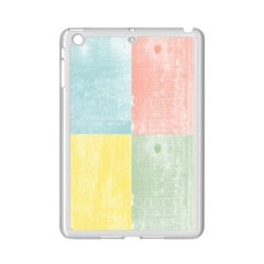 Pastel Textured Squares Apple iPad Mini 2 Case (White)