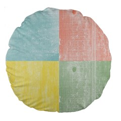 Pastel Textured Squares 18  Premium Round Cushion