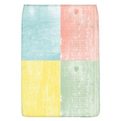 Pastel Textured Squares Removable Flap Cover (Large)