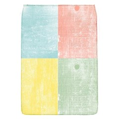 Pastel Textured Squares Removable Flap Cover (Small)