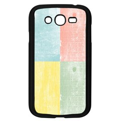 Pastel Textured Squares Samsung Galaxy Grand DUOS I9082 Case (Black)