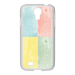 Pastel Textured Squares Samsung GALAXY S4 I9500/ I9505 Case (White)