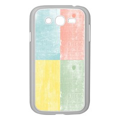 Pastel Textured Squares Samsung Galaxy Grand Duos I9082 Case (white)