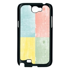 Pastel Textured Squares Samsung Galaxy Note 2 Case (Black)