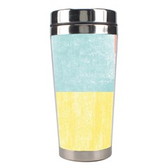 Pastel Textured Squares Stainless Steel Travel Tumbler