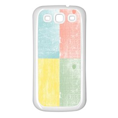 Pastel Textured Squares Samsung Galaxy S3 Back Case (white)