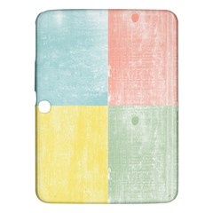 Pastel Textured Squares Samsung Galaxy Tab 3 (10 1 ) P5200 Hardshell Case