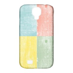 Pastel Textured Squares Samsung Galaxy S4 Classic Hardshell Case (PC+Silicone)