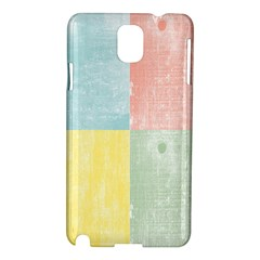 Pastel Textured Squares Samsung Galaxy Note 3 N9005 Hardshell Case