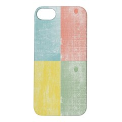 Pastel Textured Squares Apple iPhone 5S Hardshell Case