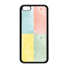 Pastel Textured Squares Apple iPhone 5C Seamless Case (Black)