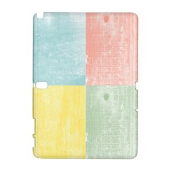 Pastel Textured Squares Samsung Galaxy Note 10.1 (P600) Hardshell Case