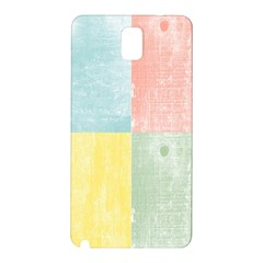 Pastel Textured Squares Samsung Galaxy Note 3 N9005 Hardshell Back Case