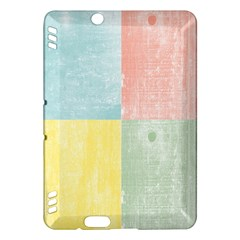 Pastel Textured Squares Kindle Fire Hdx 7  Hardshell Case
