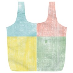 Pastel Textured Squares Reusable Bag (XL)