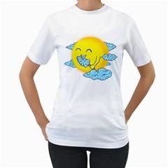 Cloud Candy Women s T-Shirt (White)