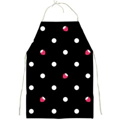 20130128 Strawberry Dots White with Black Apron