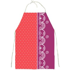 Lace Dots with Violet Rose Apron