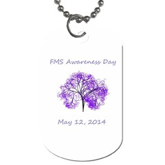 Fms Awareness 2014 Dog Tag (one Sided)