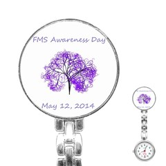 FMS Awareness 2014 Stainless Steel Nurses Watch