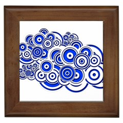 Trippy Blue Swirls Framed Ceramic Tile