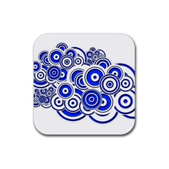 Trippy Blue Swirls Drink Coaster (Square)