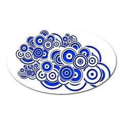 Trippy Blue Swirls Magnet (Oval)