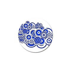 Trippy Blue Swirls Golf Ball Marker