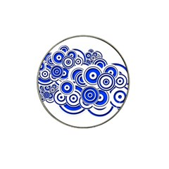 Trippy Blue Swirls Golf Ball Marker (for Hat Clip)
