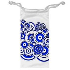 Trippy Blue Swirls Jewelry Bag