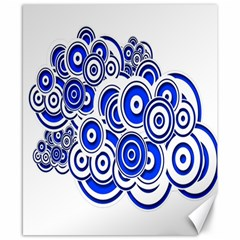 Trippy Blue Swirls Canvas 8  x 10  (Unframed)