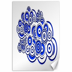 Trippy Blue Swirls Canvas 20  x 30  (Unframed)