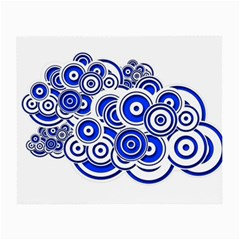 Trippy Blue Swirls Glasses Cloth (Small, Two Sided)