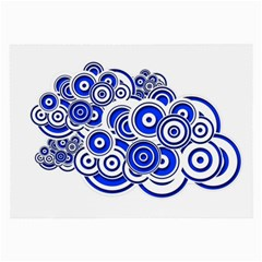 Trippy Blue Swirls Glasses Cloth (large, Two Sided)