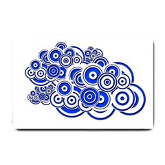 Trippy Blue Swirls Small Door Mat