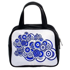 Trippy Blue Swirls Classic Handbag (two Sides)