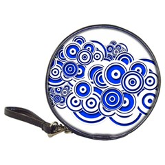 Trippy Blue Swirls Cd Wallet