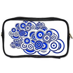 Trippy Blue Swirls Travel Toiletry Bag (two Sides)