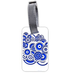 Trippy Blue Swirls Luggage Tag (two Sides)