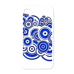 Trippy Blue Swirls Apple Iphone 4 Case (white)
