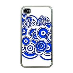 Trippy Blue Swirls Apple Iphone 4 Case (clear)