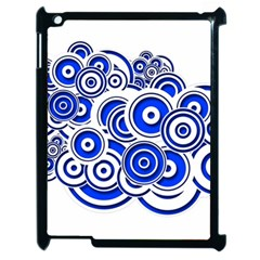 Trippy Blue Swirls Apple Ipad 2 Case (black)