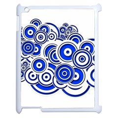 Trippy Blue Swirls Apple Ipad 2 Case (white)