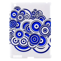 Trippy Blue Swirls Apple Ipad 3/4 Hardshell Case (compatible With Smart Cover)