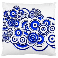 Trippy Blue Swirls Large Cushion Case (two Sided)