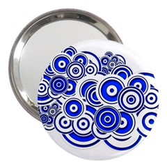 Trippy Blue Swirls 3  Handbag Mirror