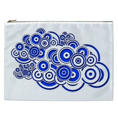 Trippy Blue Swirls Cosmetic Bag (xxl)