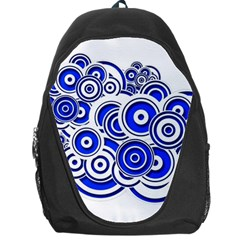 Trippy Blue Swirls Backpack Bag