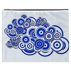 Trippy Blue Swirls Cosmetic Bag (XXXL)